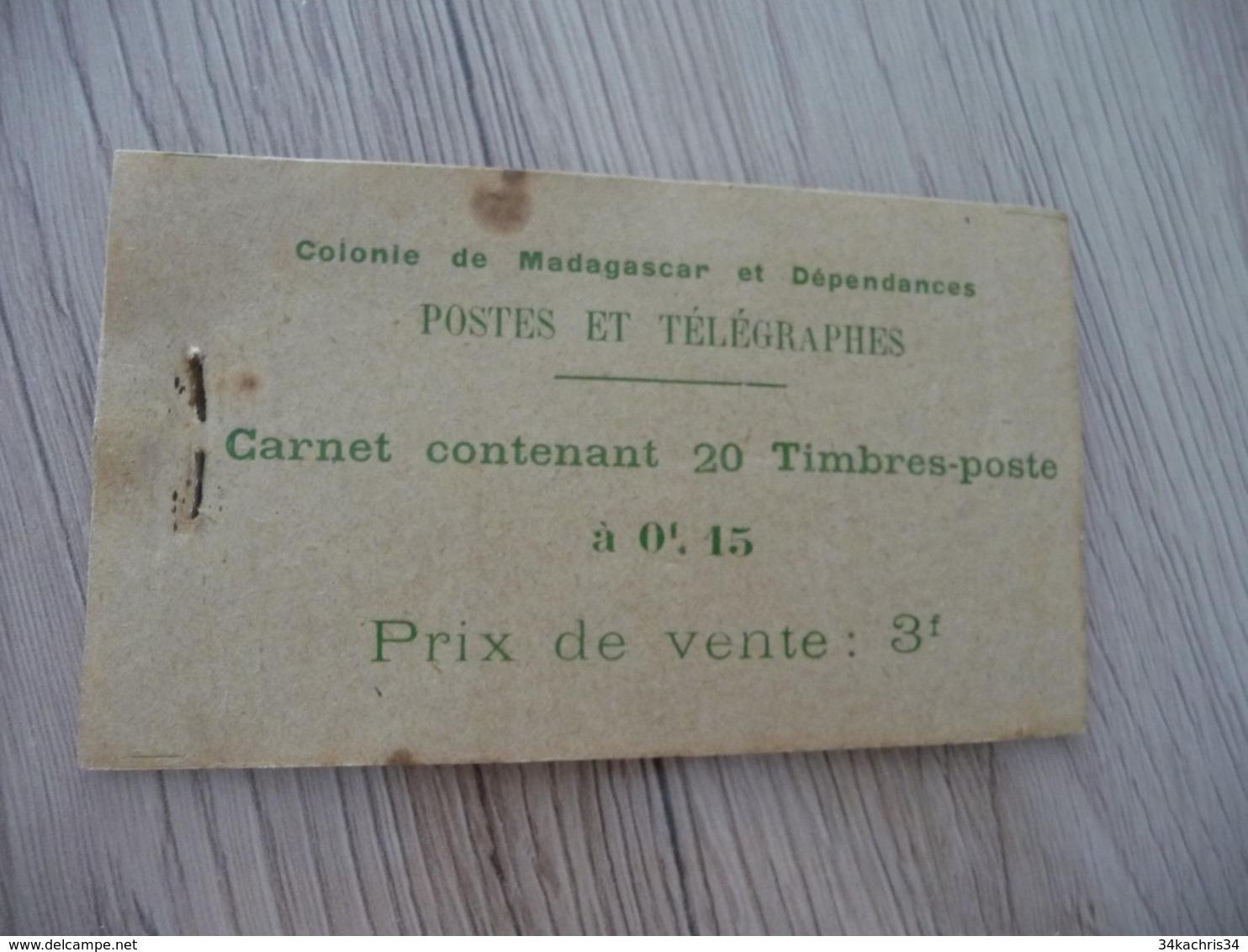 TP Colonies Françaises Madagascar Carnet 20 Timbres Mauvais état Mais Complet Rouille En L'état - Madagaskar (1889-1960)