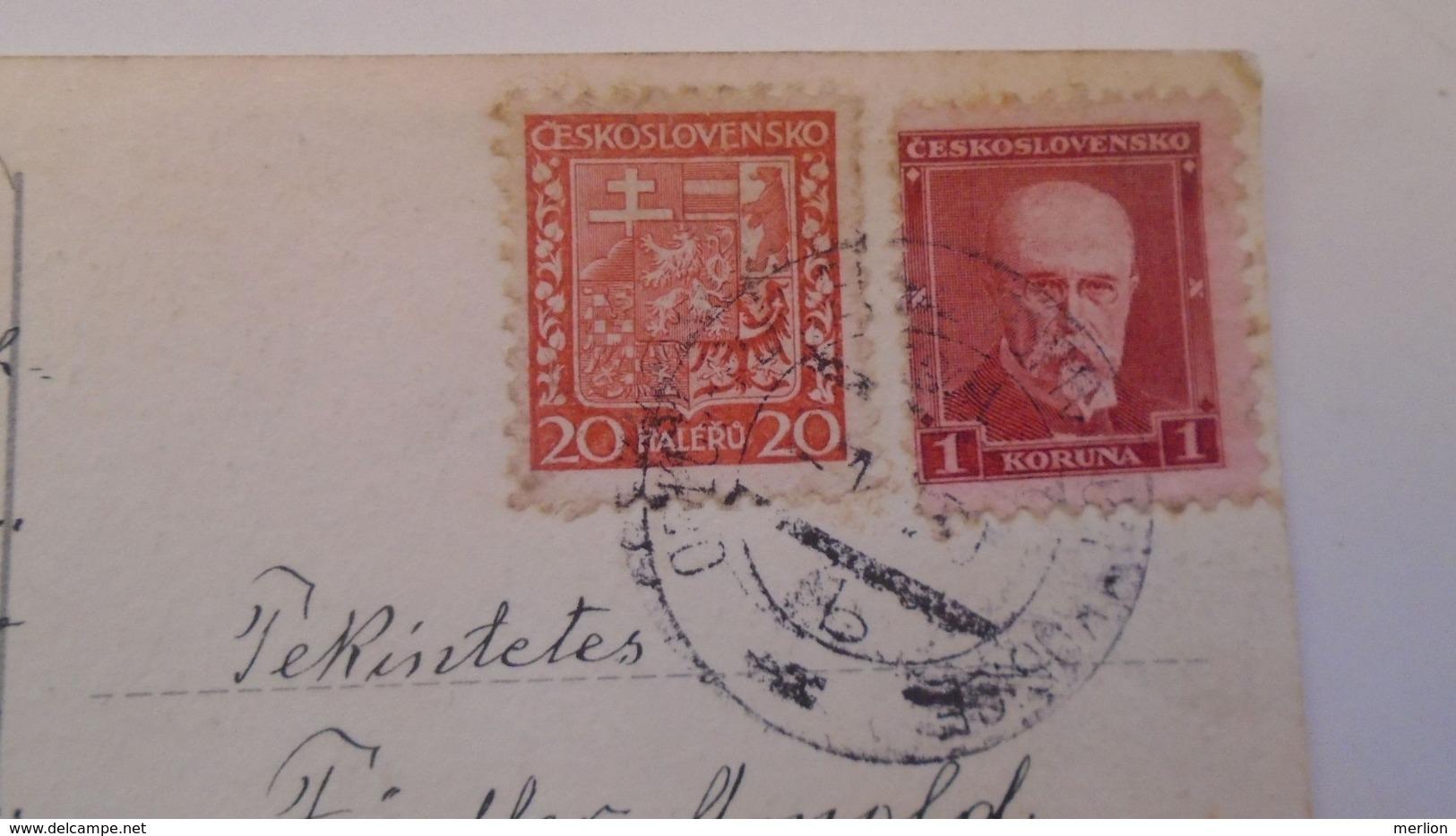 D168183  Czechoslovakia  Postcard Konst. Busek - Costumes- TPO -Railway Post - Orlov-Plaveč Nad Popradom-Kosice Ca 1930 - Briefe U. Dokumente