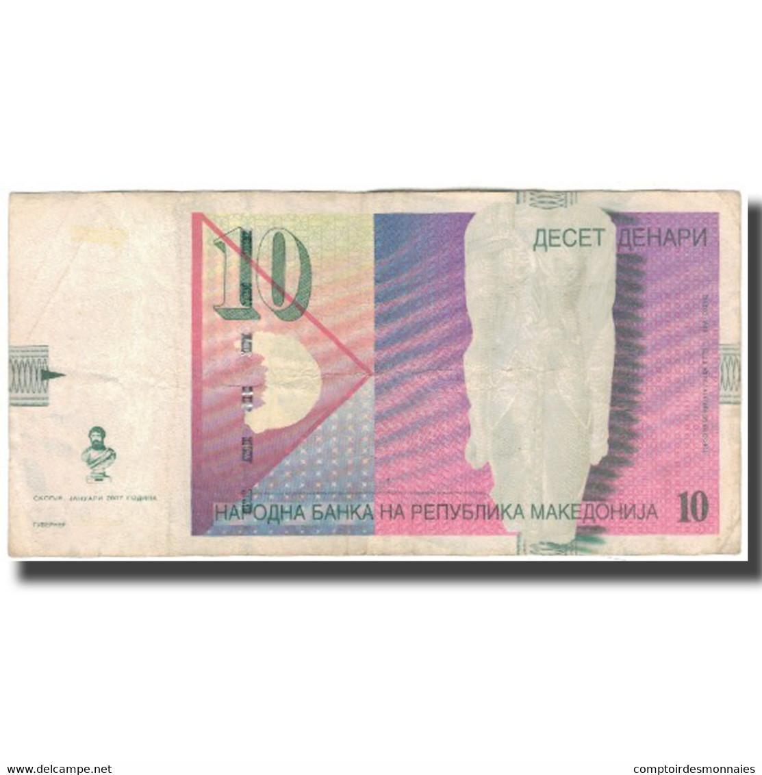 Billet, Macédoine, 10 Denari, 2007, KM:14g, TTB - Macedonia