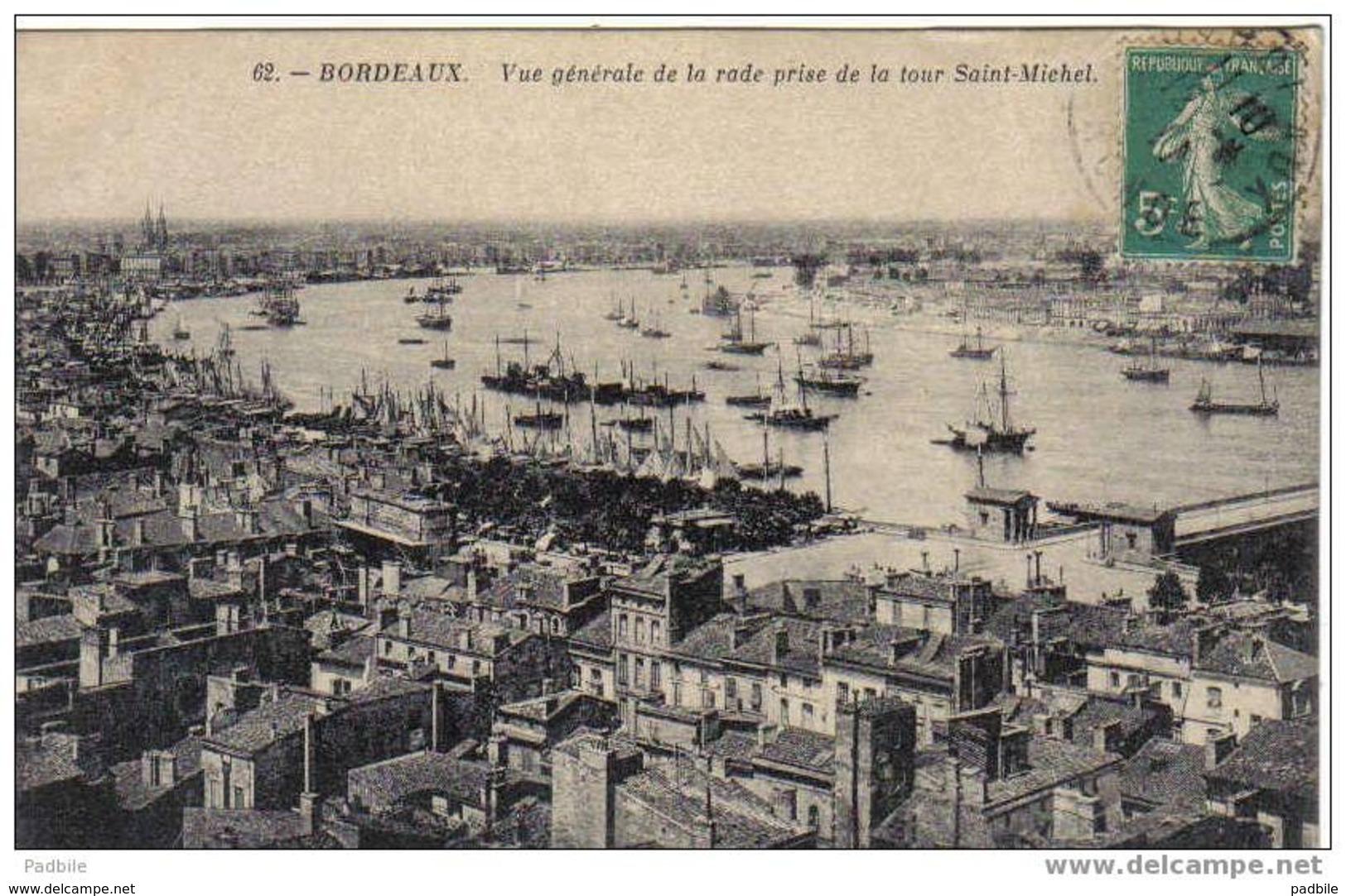 Carte Postale 33.Bordeaux - Vue Générale De La Rade Très Beau Plan - Bordeaux