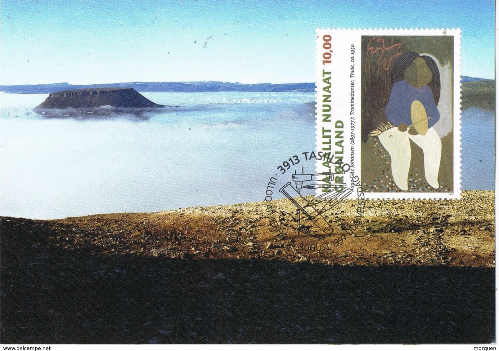 33977. Tarjeta Maxima TASIILAQ (Gronland) 1997.. DUNDAS, Thule - Maximum Cards
