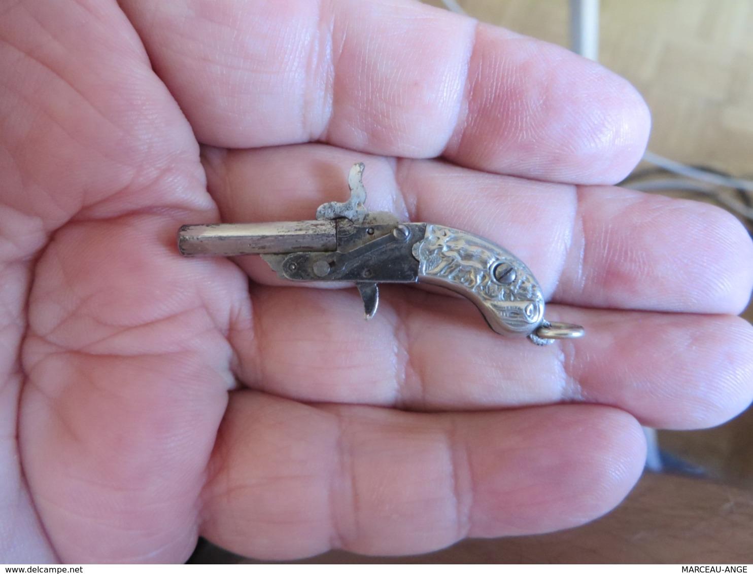 Mini,pistolet ,,quel époque ,je Ne Sais Pas ,mais C'est Joli - Armes Neutralisées