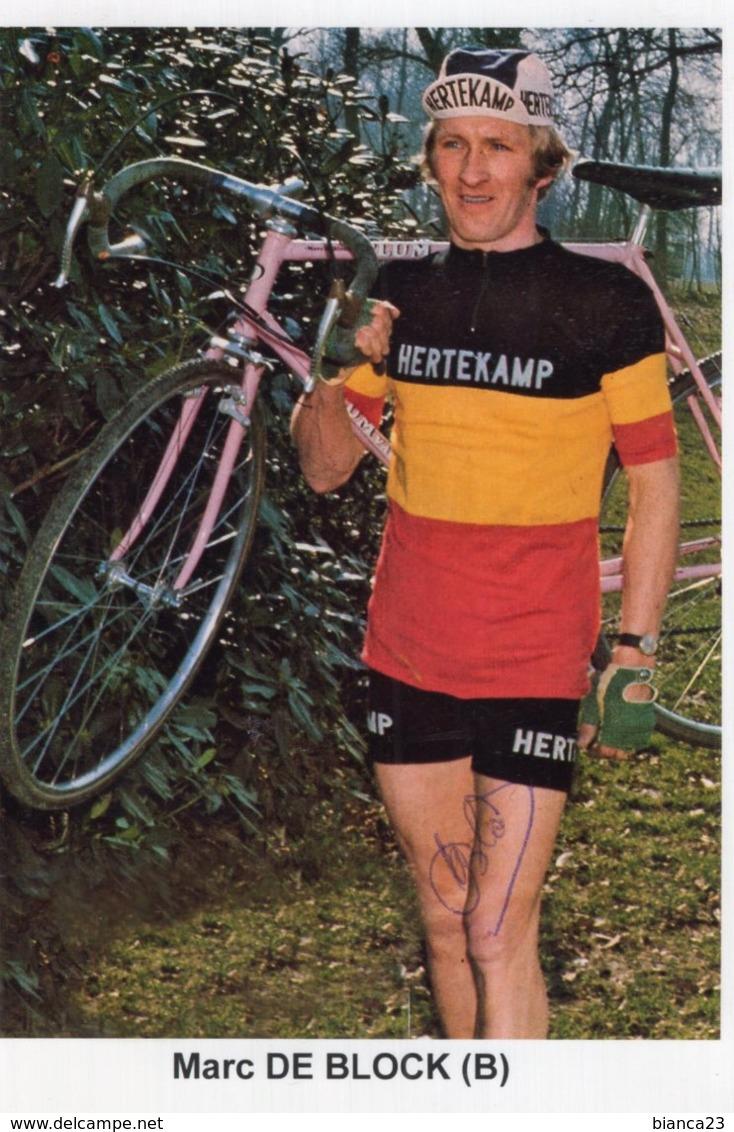 7043  Photo Cyclisme Marc De Block Dédicacée - Cyclisme