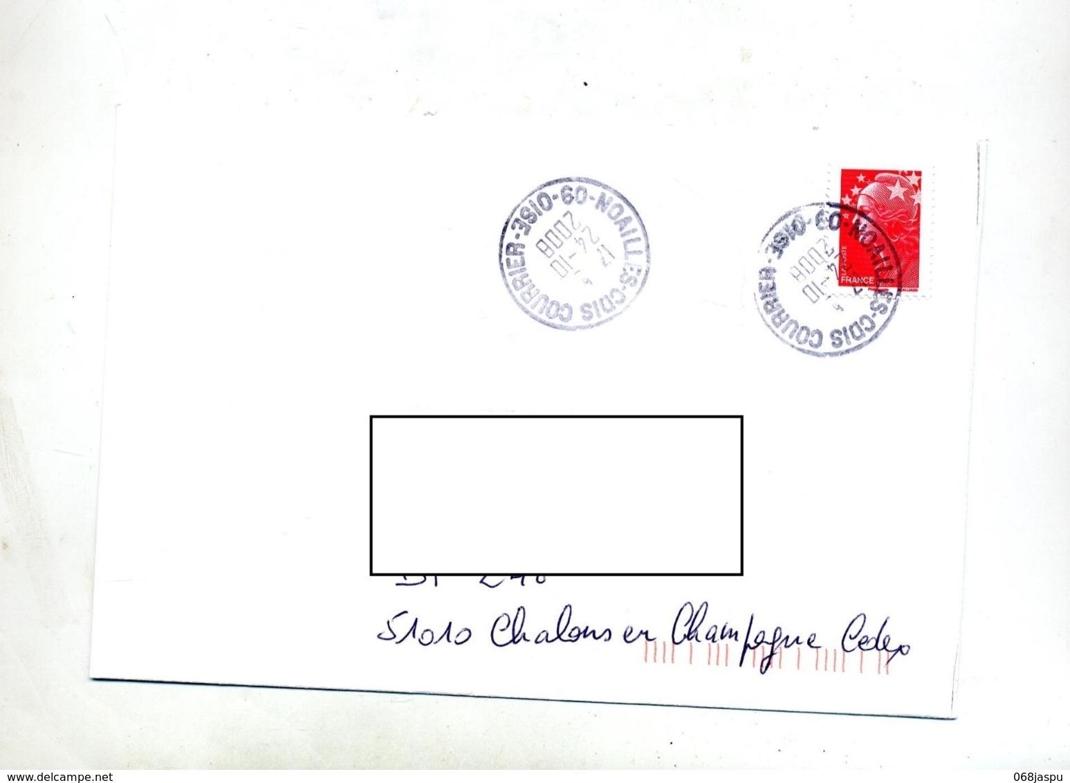 Lettre  Cachet Noailles Courrier - Marcophilie (Lettres)