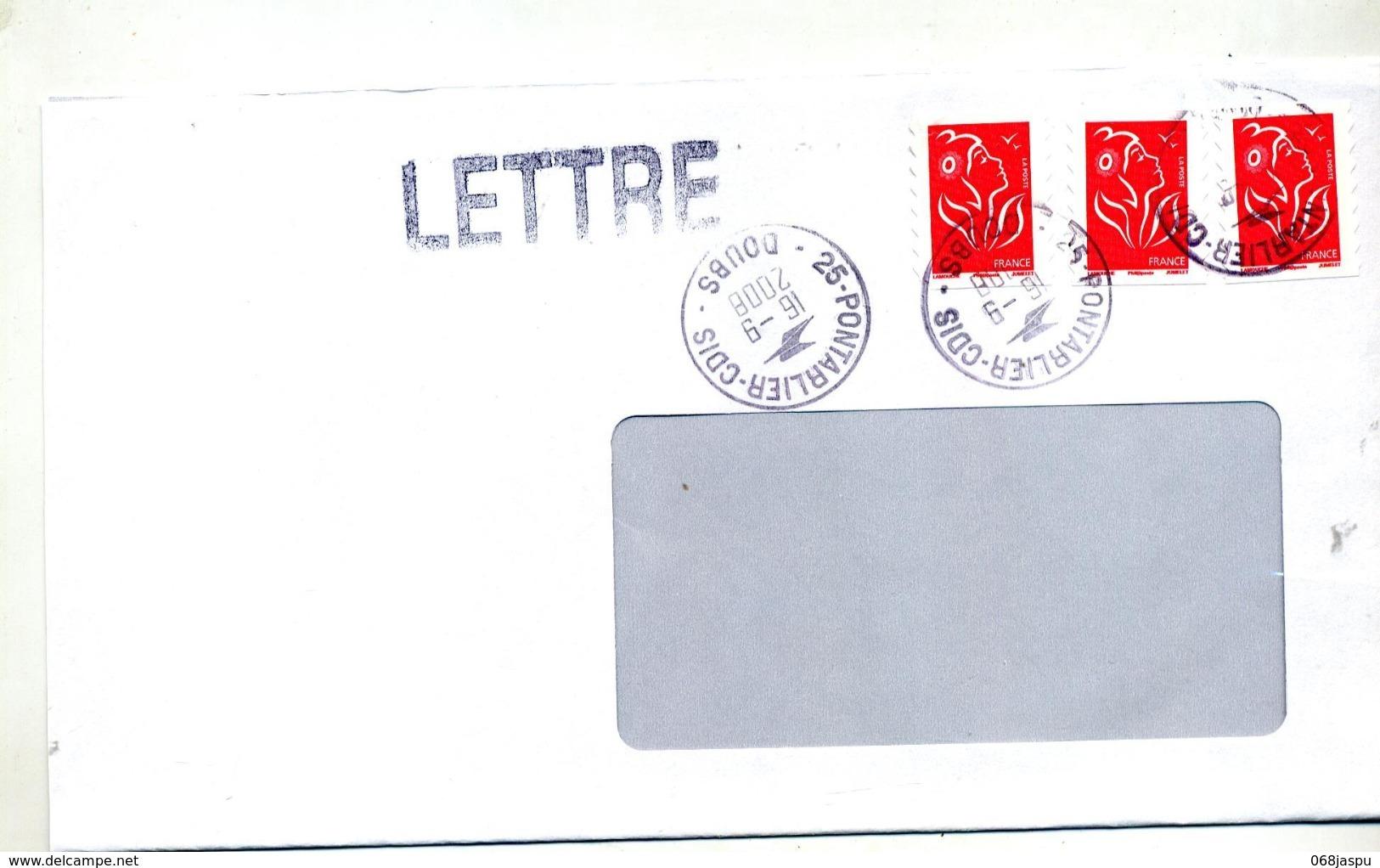 Lettre  Cachet Pontarlier Cdis - Marcophilie (Lettres)