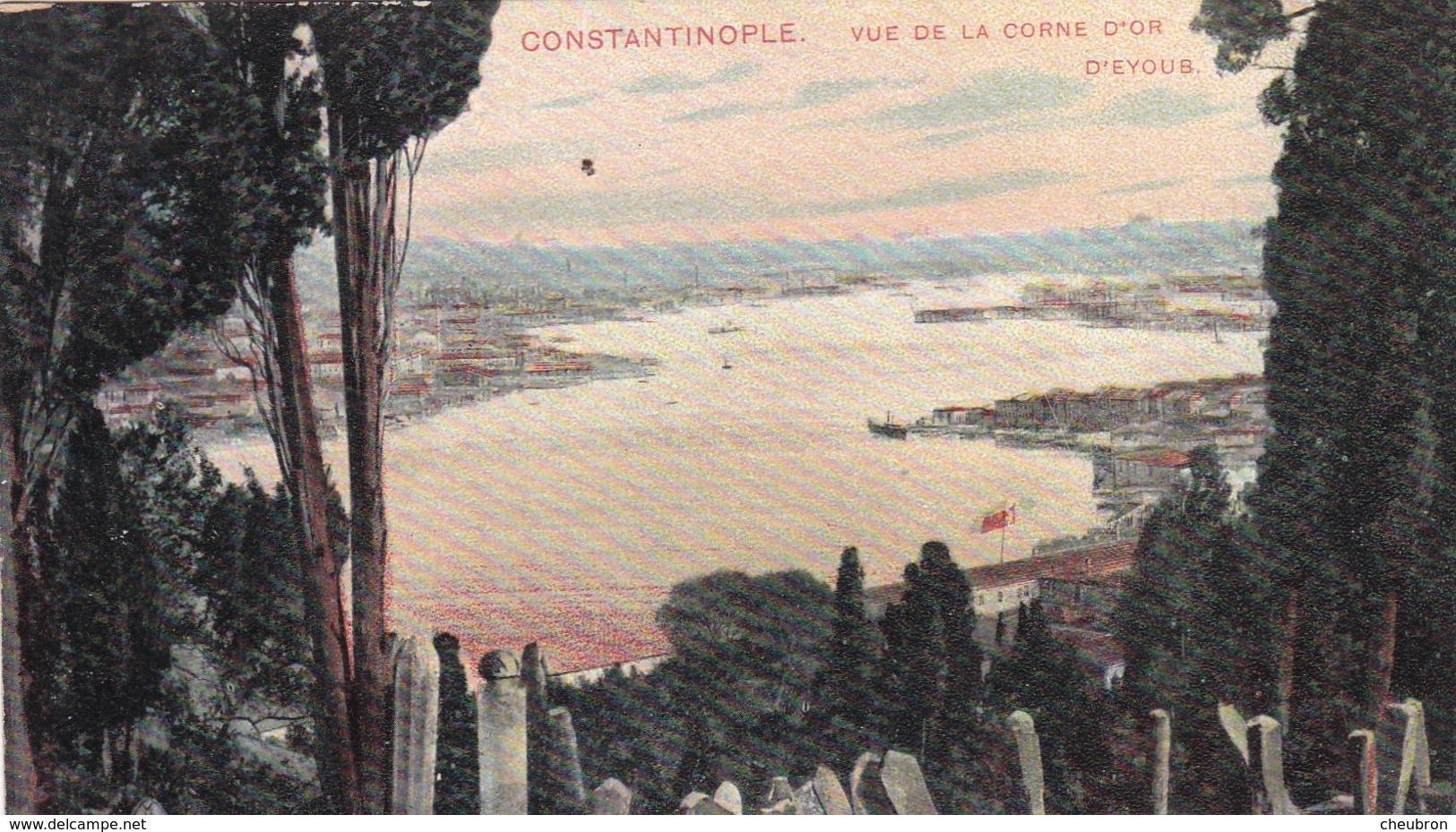 TURQUIE. CONSTANTINOPLE. CPA COLORISÉE.VUE DE LA CORNE D'OR D'EYUB - Turquie