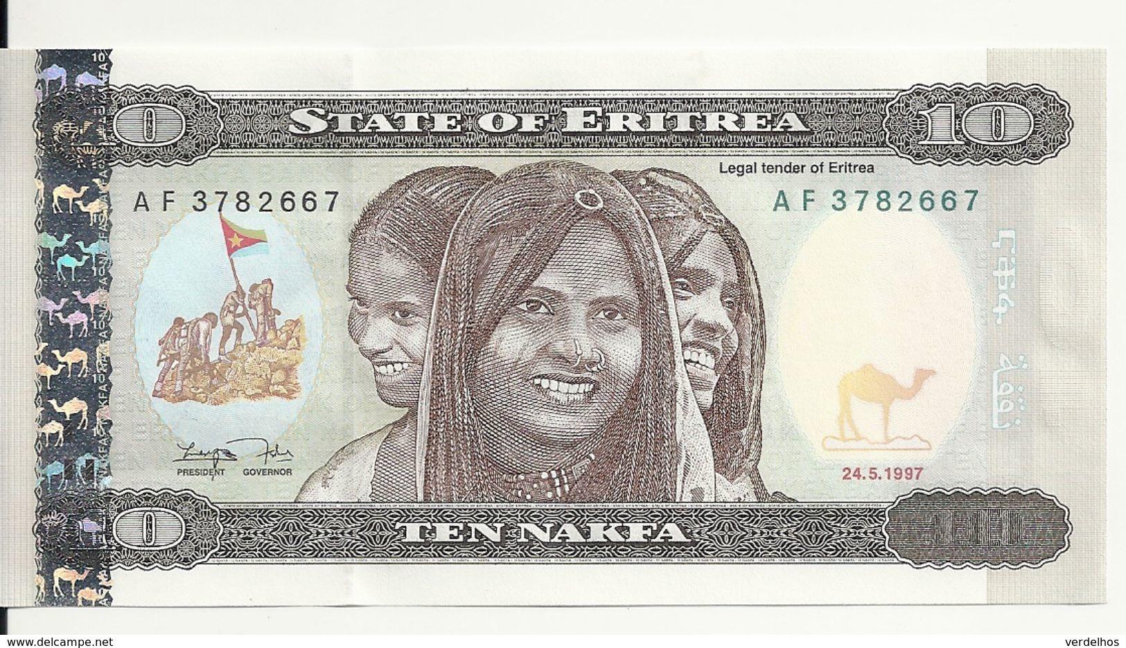 ERYTHREE 10 NAFKA 1997 AUNC P 3 - Eritrea