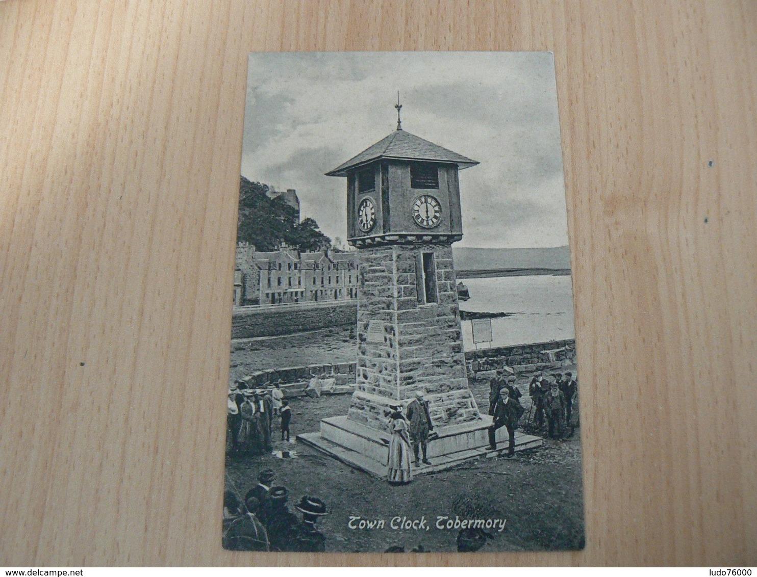 CP 80 / ROYAUME UNI / TOWN CLOCK TOBERMORY / CARTE VOYAGEE - Royaume-Uni