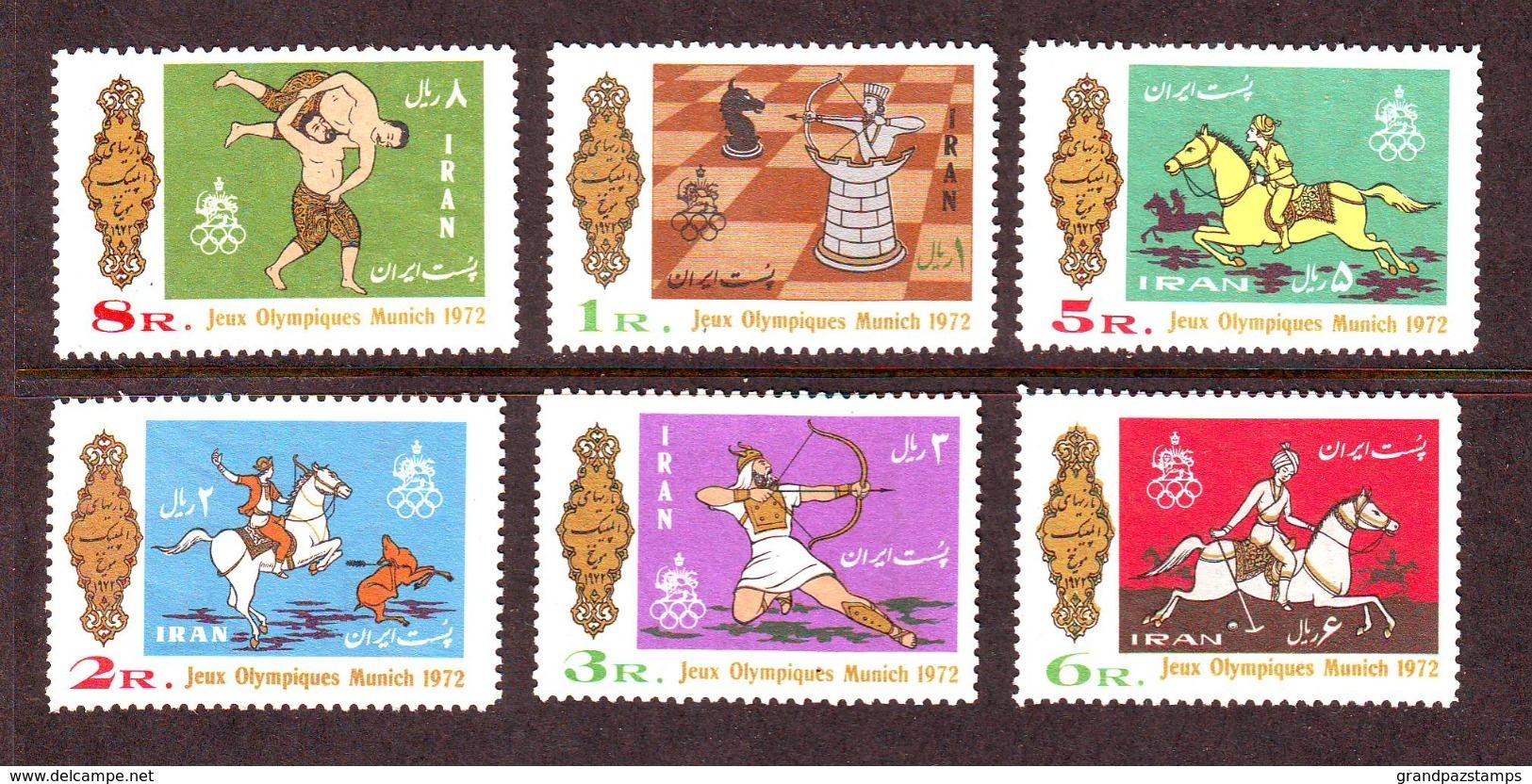 Iran 1972  SC#1671-76  Set MNH - Iran