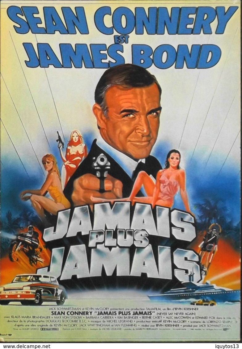 CPM. > Cinema > Affiches Sur Carte > Sean CONNERY - James Bond 007 - Jamais Plus Jamais - TBE - Manifesti Su Carta