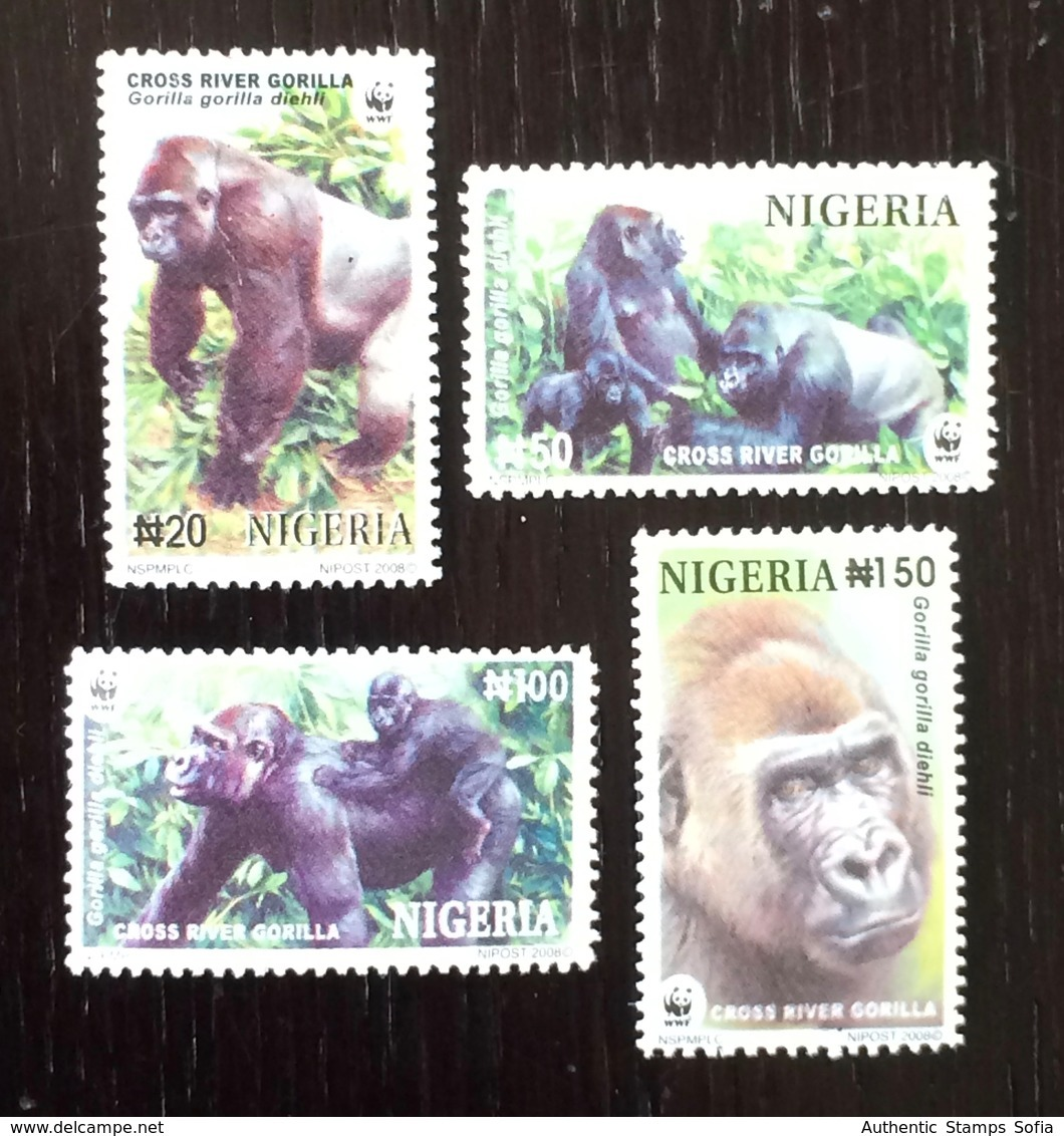 Nigeria 2008; WWF Fauna Wild Animals Mankey Gorila; MNH VF** Nice Set! - W.W.F.
