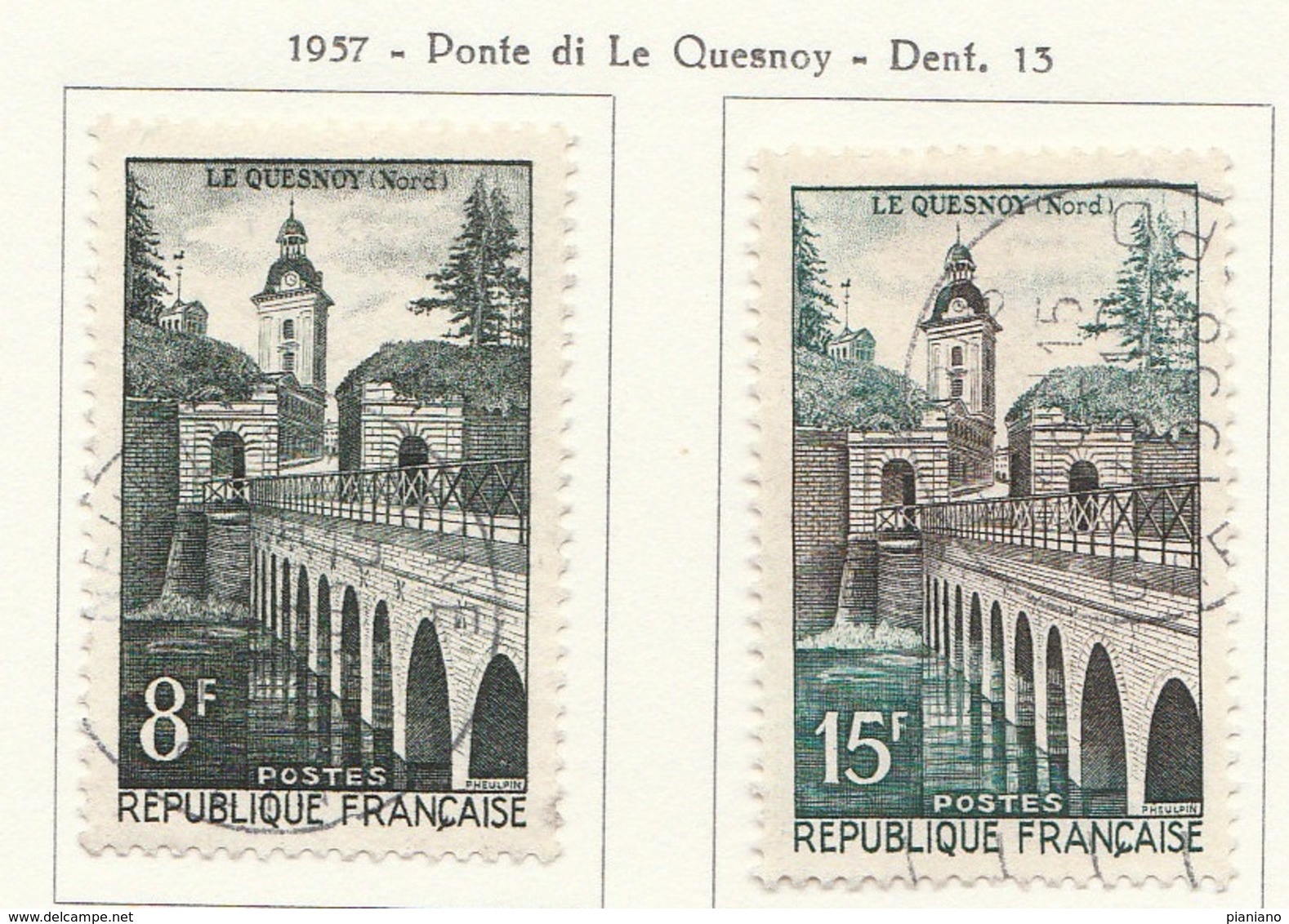 PIA - FRA - 1957 : Ponte Di Le Quesnoy - (Yv 1105-06) - Ponti