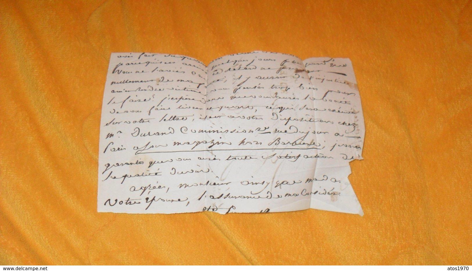 DEVANT DE LETTRE ANCIENNE DATE ?.../ MARQUE 74 ROUEN POUR ST ARNOULT PRES DOURDAN... - Marcophilie (Lettres)