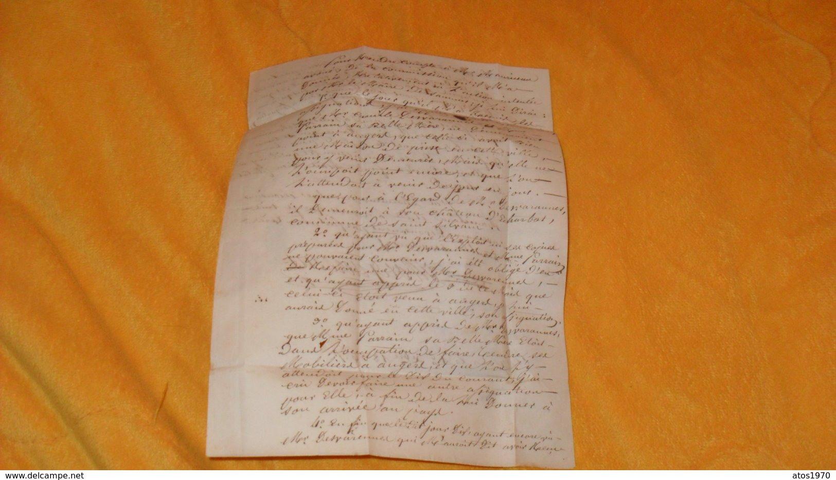 LETTRE ANCIENNE DE 1836.../ CACHETS ANGERS POUR SAUMUR...+ TAXE.. - Marcophilie (Lettres)