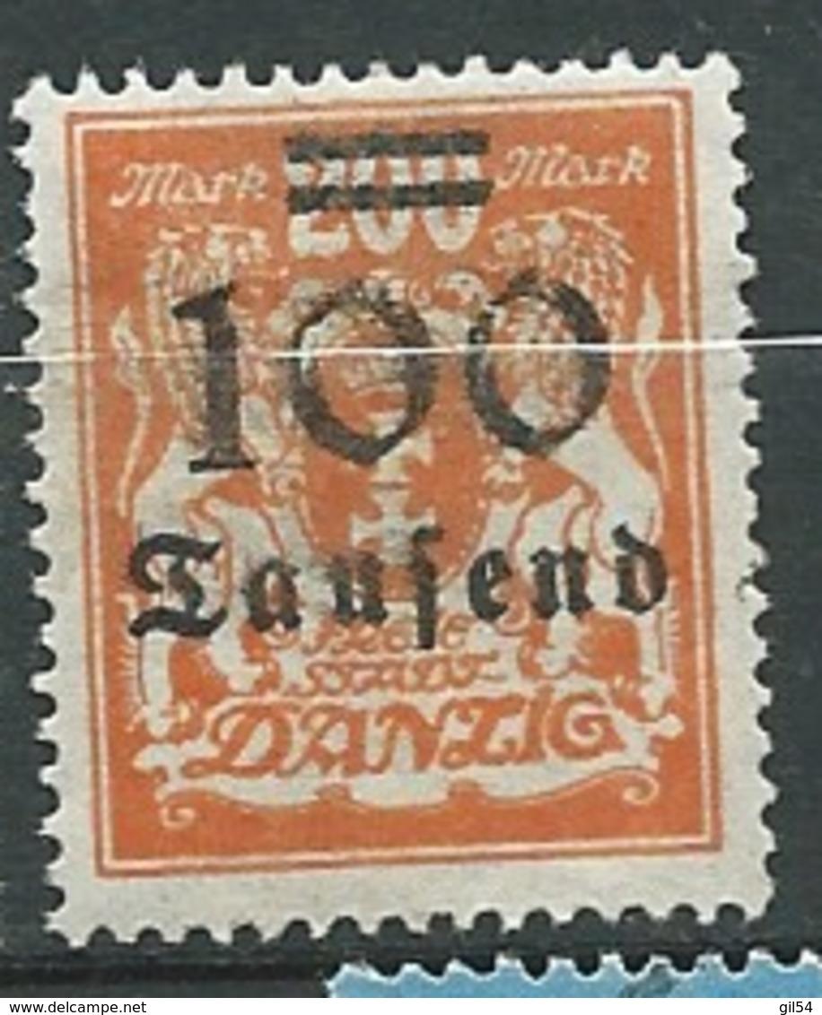 Dantzig  -  Yvert N° 142 *   -  Ava 27803 - Dantzig
