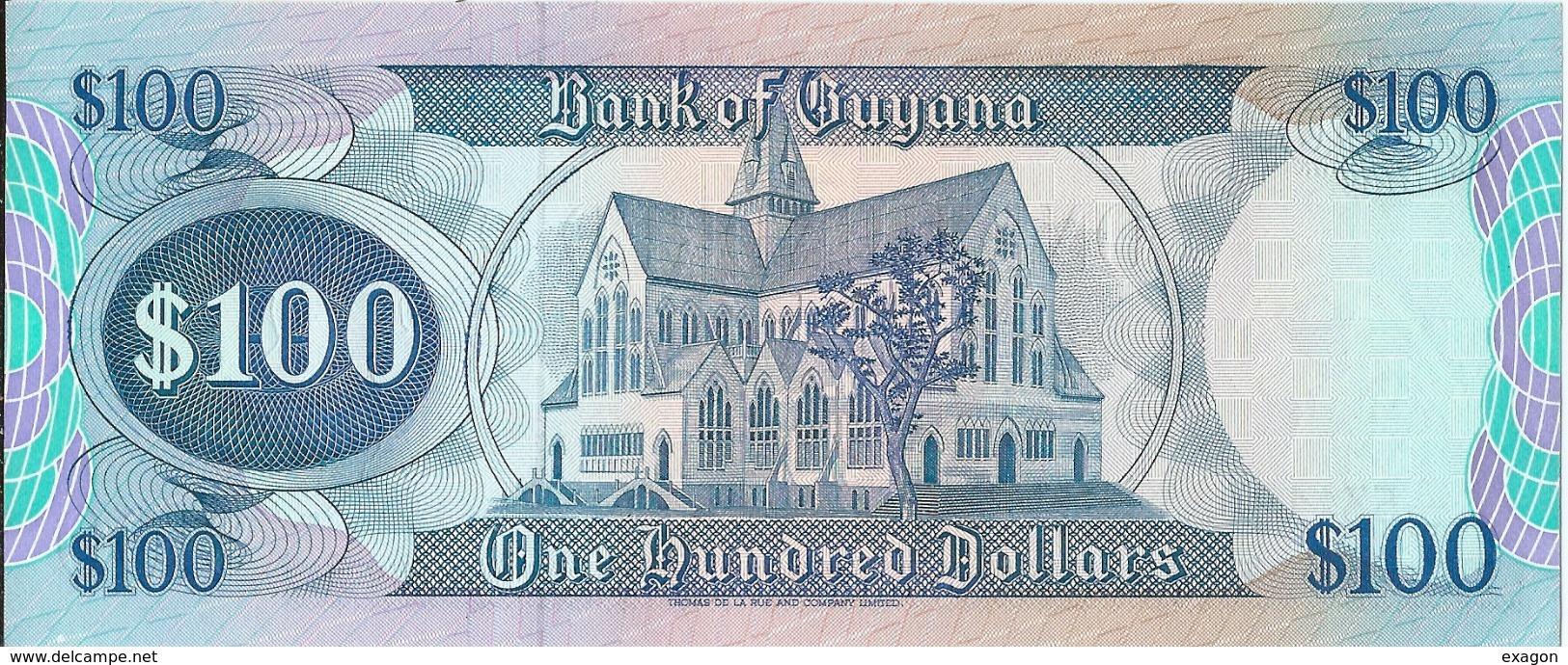N. 1 Banconota -  100 Dollars  -  GUYANA  . Anno  2012 - Guyana