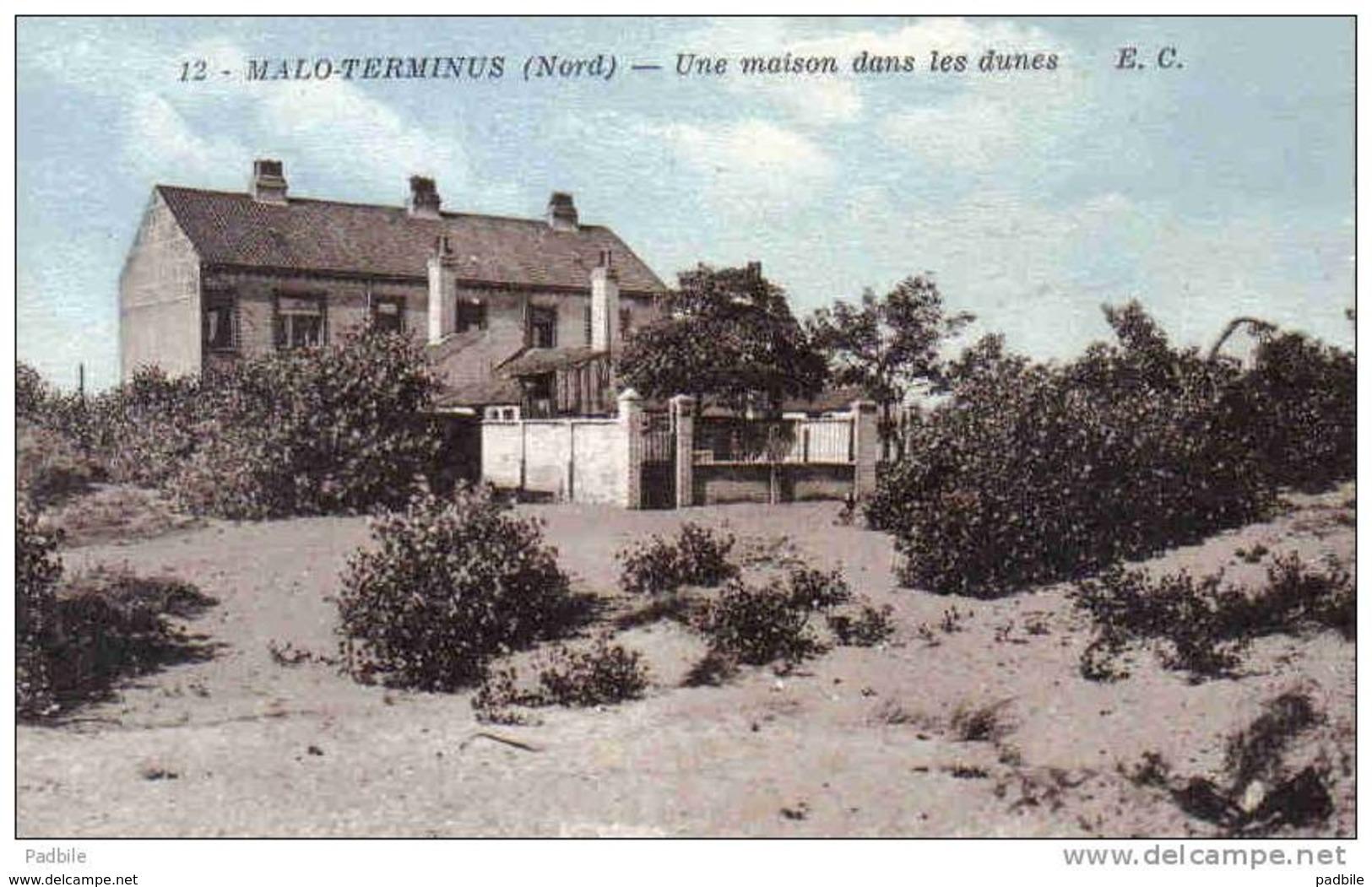 Carte Postale 59. Malo-Terminus  Dunkerque  Une Maison Dans Les Dunes Trés Beau Plan - Dunkerque