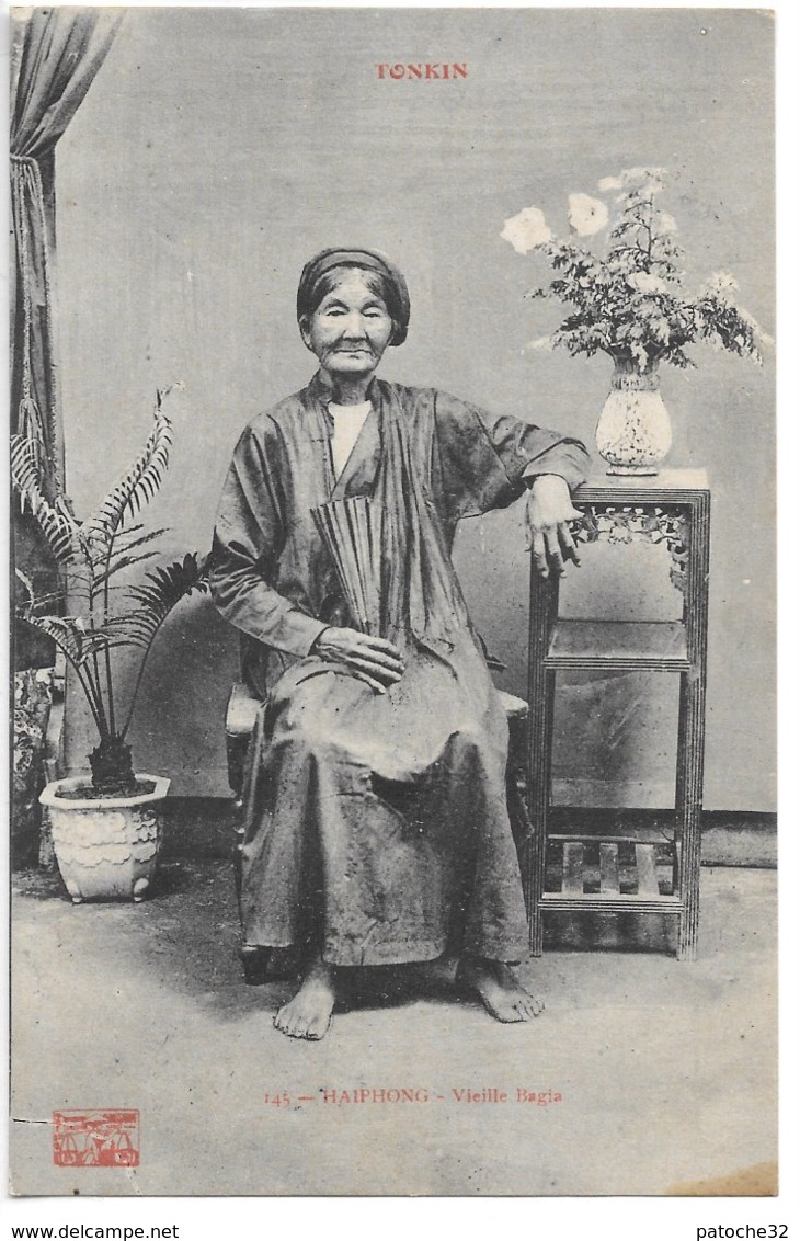 Cpa...Viet-Nam...Indochine....Tonkin...Haiphong...vieille Bagia....costume.... - Viêt-Nam
