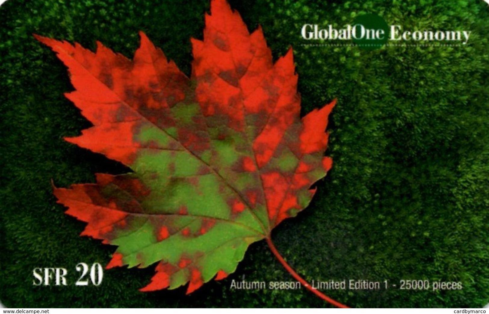 *SVIZZERA: GLOBAL ONE ECONOMY* - Scheda Usata - Svizzera