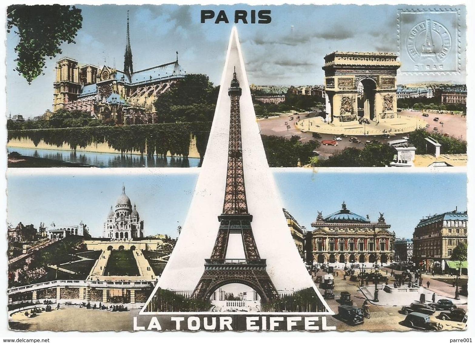 "France 1956 Paris Tour Eiffel Meter Havas ""K"" K-0930 Viewcard - Monumenten"