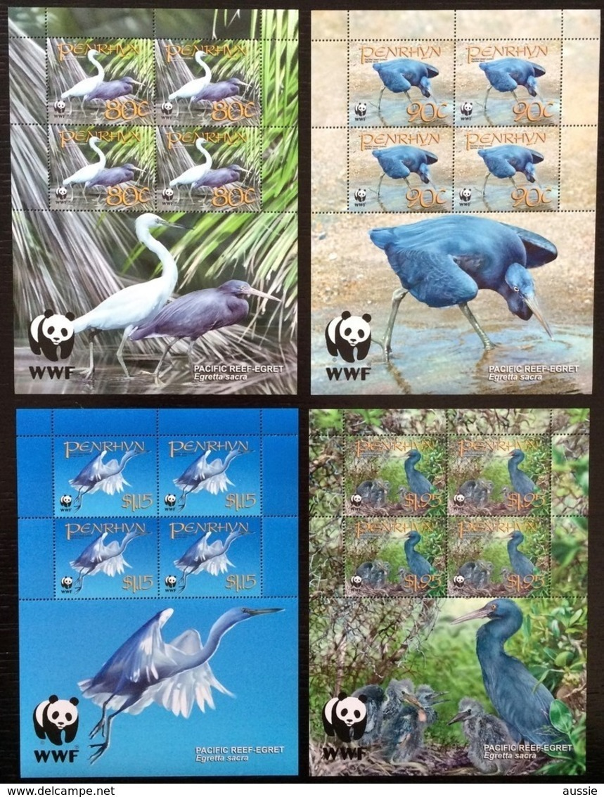 Penrhyn 2008 Yvertn° 454-457 *** MNH Cote 40 Euro 4 Séries Faune WWF Oiseaux Vogels Birds - Nuevos