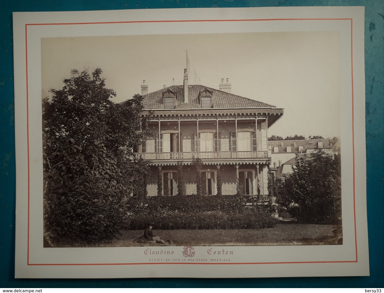 VICHY -VILLA IMPERIALE CHALET MARIE-LOUISE  - Photographie Ancienne Albuminée De Claudius Couton - Photos