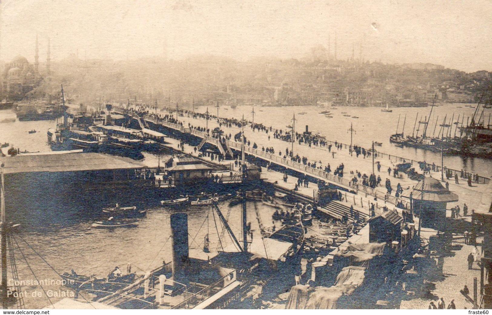 Constantinople - Pont De Galata - Turquie