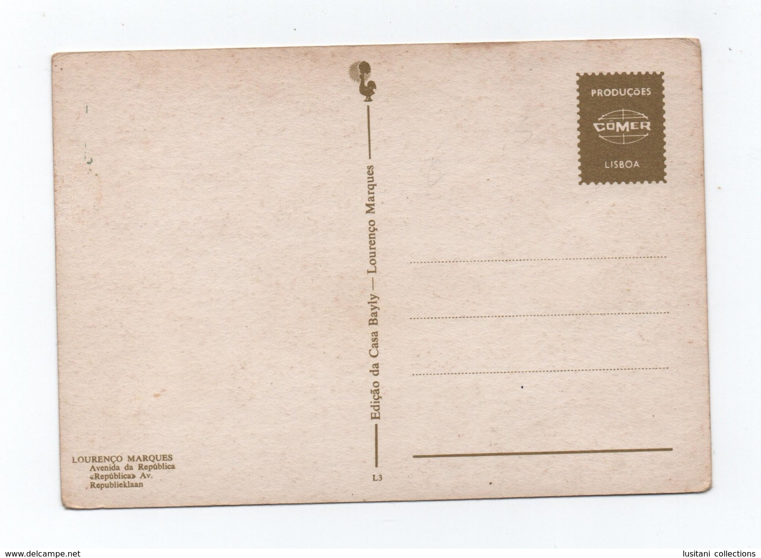Postcard 1960years LOURENÇO MARQUES MOZAMBIQUE MOÇAMBIQUE AFRICA AFRIKA AFRIQUE - Mozambique
