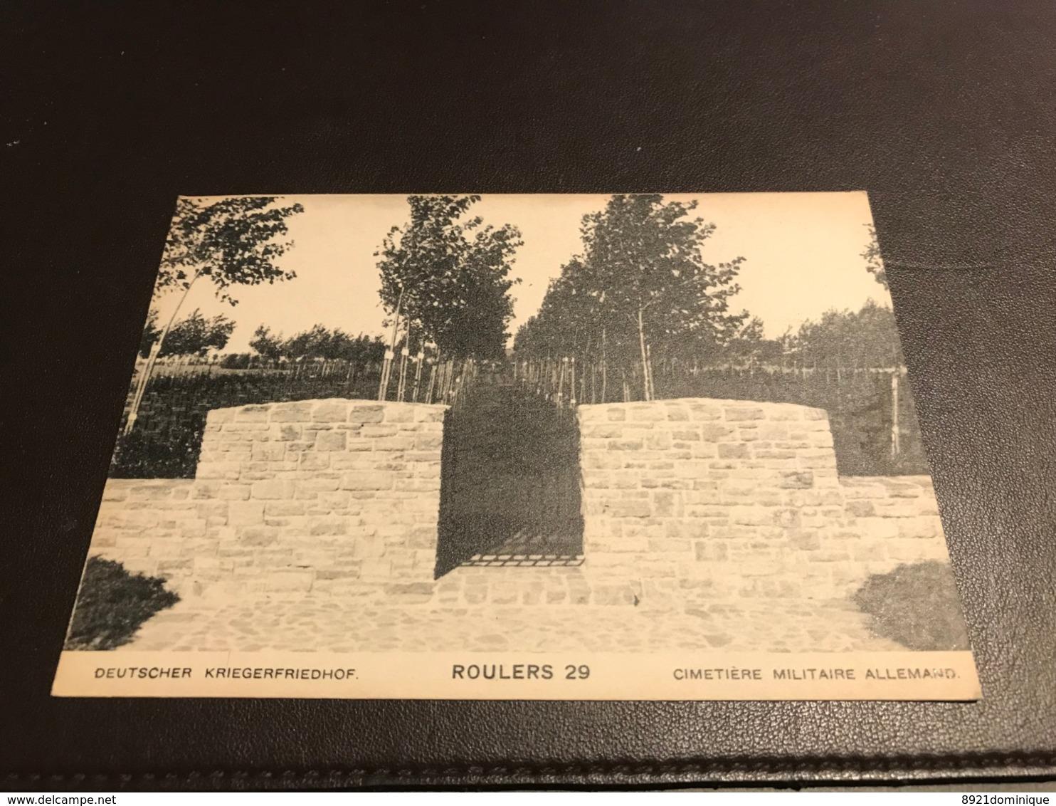 Kriegerfriedhof 29 Roulers De Ruiter Roeselare Colliemolenhoek Ehrenfriedhof  Flandern 1914 1918 -photo Kerling - Roeselare