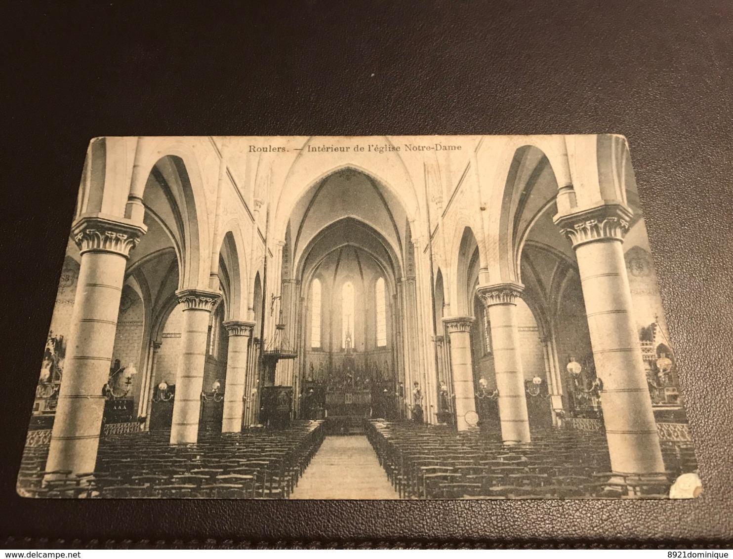 Roeselare - Roulers - Rousselare - Interieur De L' Eglise De Notre-Dame - Edit. Carlier-Dispersyn - Roeselare