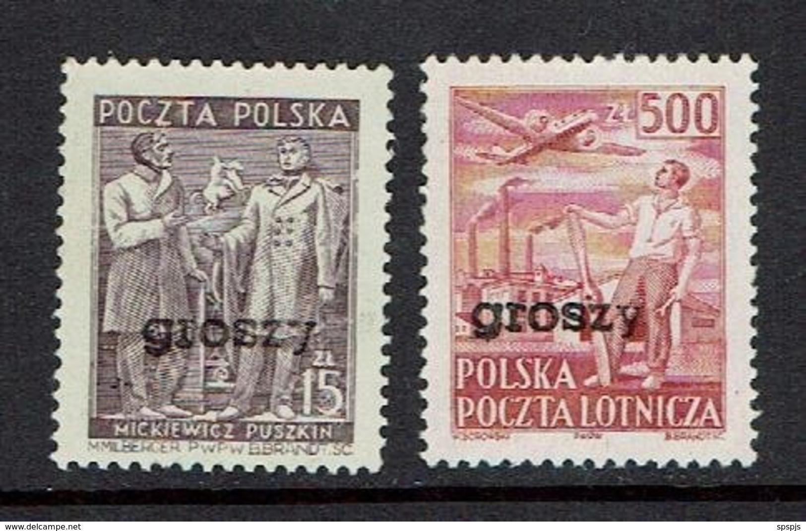 "POLAND...MNH...scarce ""Groszy"" Overprine...1950's - 1944-.... Republic"
