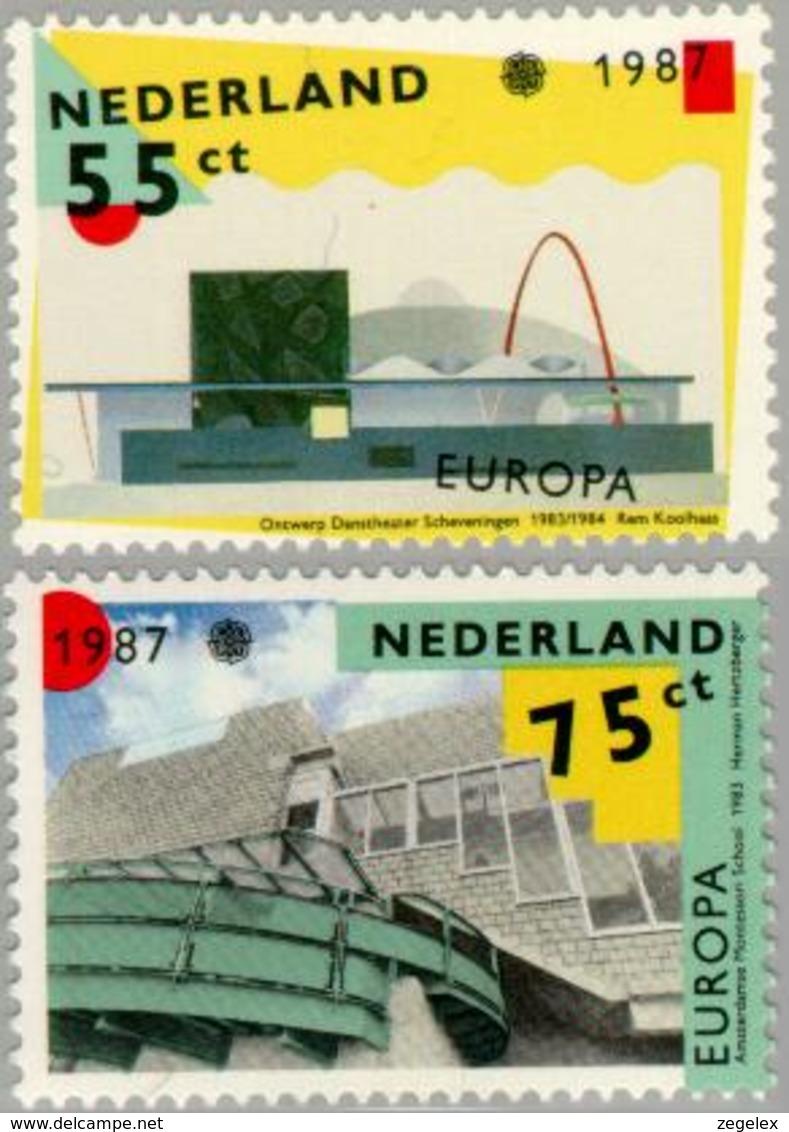 1987 Europa, Modern Architecture, Dance Theater  NVPH 1376-1377 Postfris/MNH/** - Ongebruikt