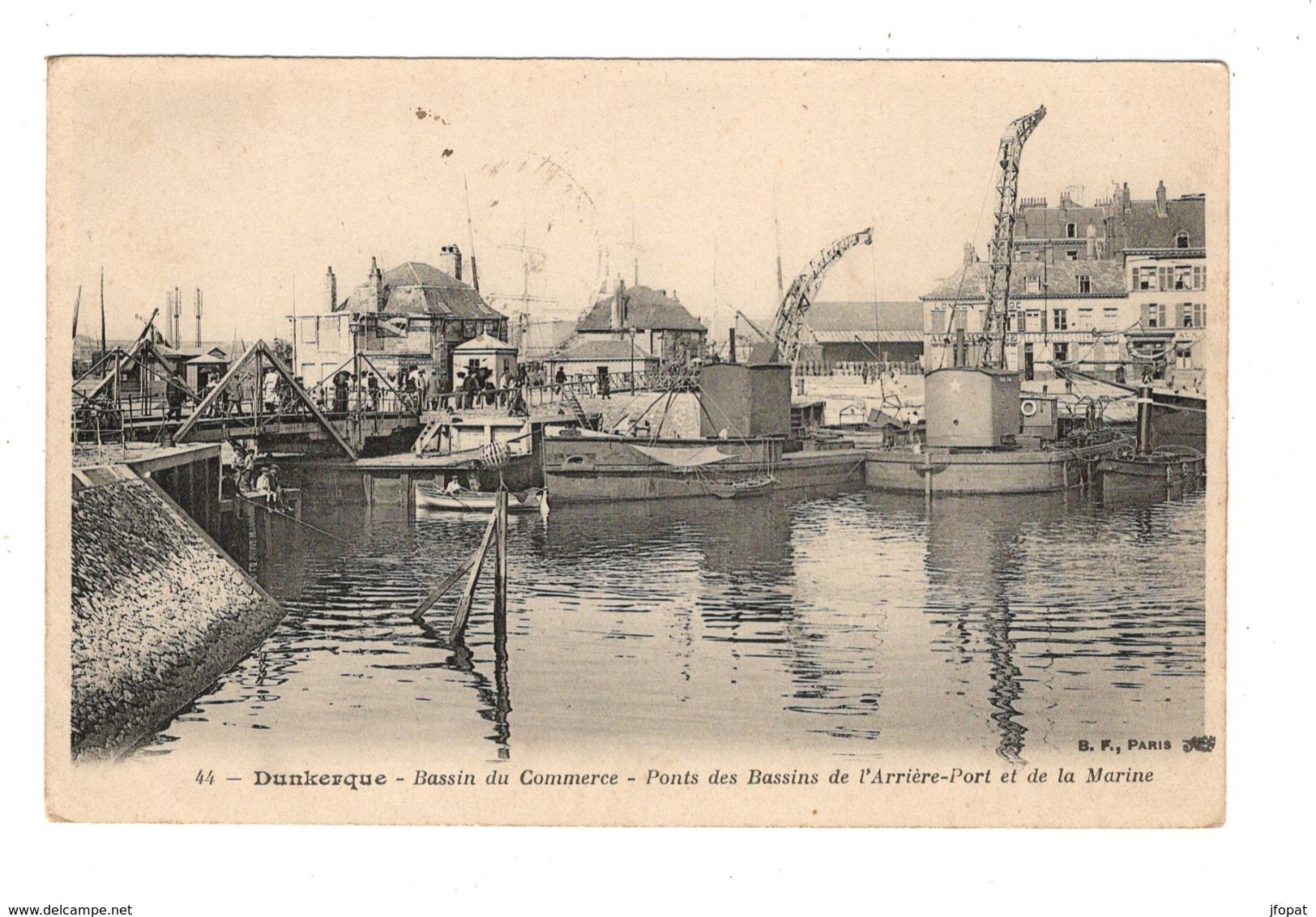 59 NORD - DUNKERQUE Ponts Des Bassins De L'Arrière-Port Et De La Marine (voir Descriptif) - Dunkerque