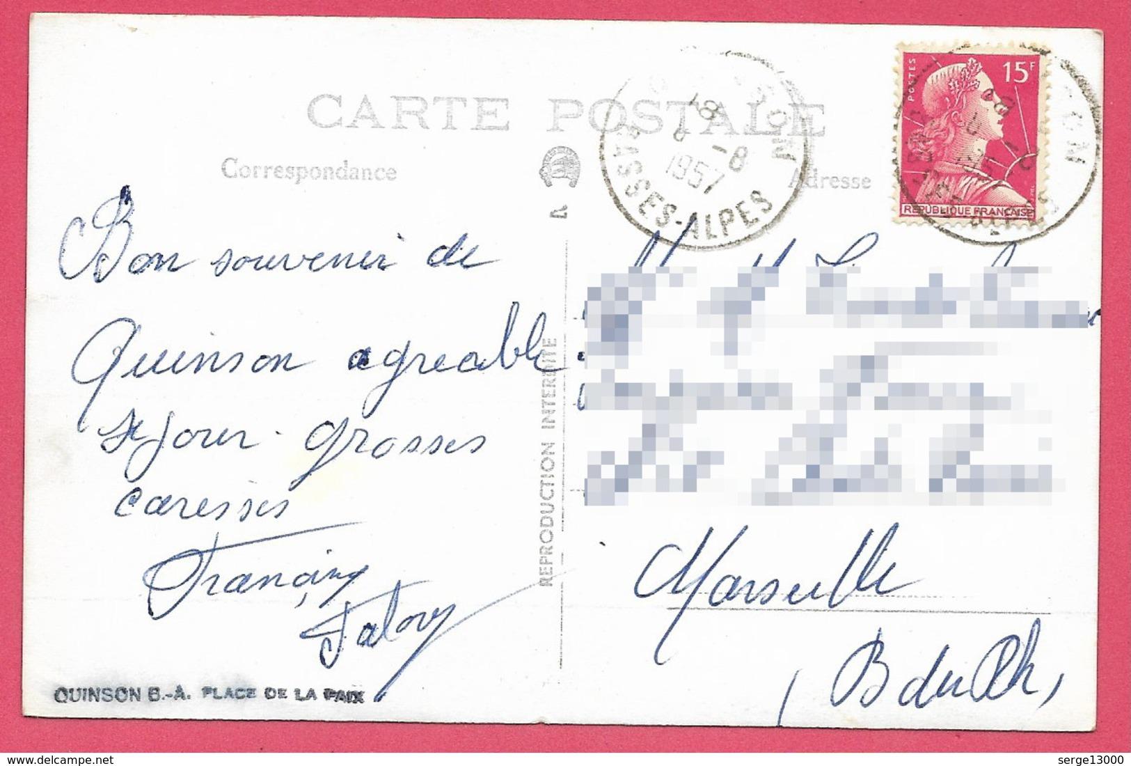 04 QUINSON Place De La Paix - Epicerie ROUX Coiffeur Env De Valensole Forcalquier Gréoux Manosque - Autres Communes