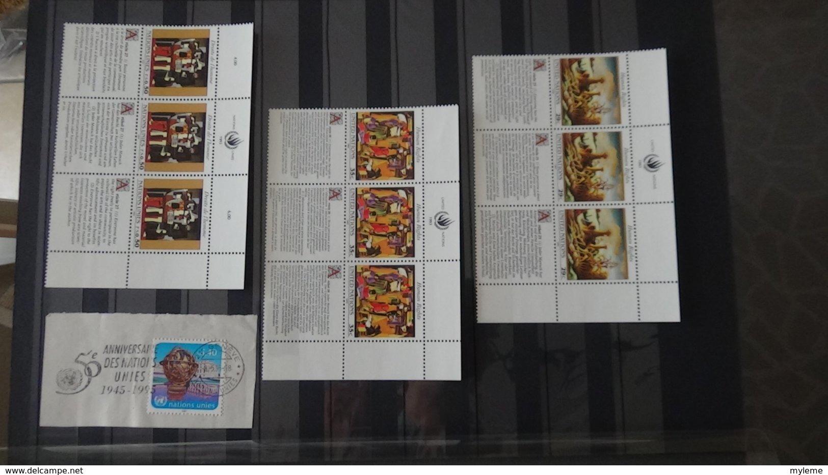 Belle Collection Nations Unies ** Et Quelques Oblitérés. Très Sympa !!! - Collections (with Albums)