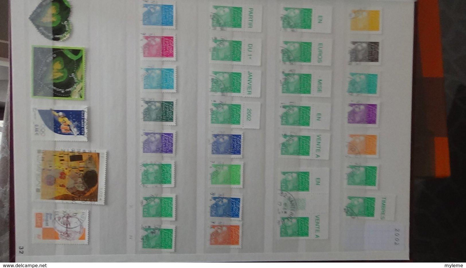 France Oblitéré De 1993 à 2002 Avec Toutes Les Bonnes Petites Valeurs (2824,2873a, 3009a ...). Très Sympa !!! - Stamps