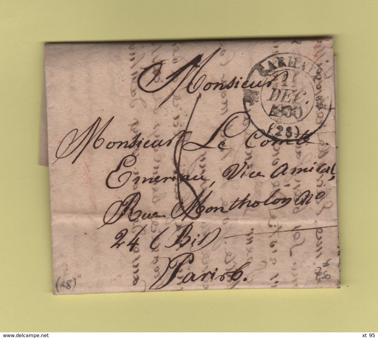 Carhaix - 28 - Finistere - 11 Dec 1830 - 1801-1848: Précurseurs XIX