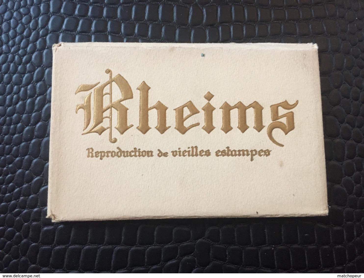 POCHETTE DE 12 REPRODUCTIONS DE VIEILLES ESTAMPES RHEIMS ANCIEN - REIMS - Arts
