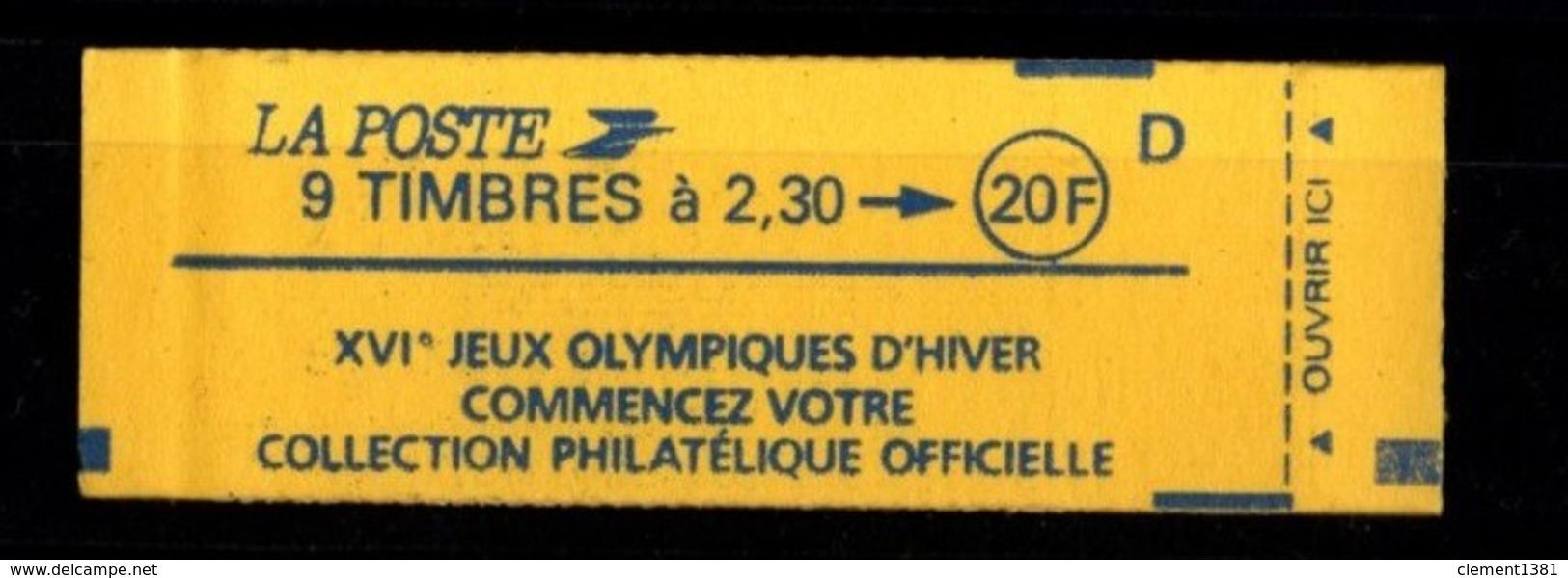 France Carnet 2614-C8 MARIANNE DE BRIAT 2,30fr Fermé - Markenheftchen