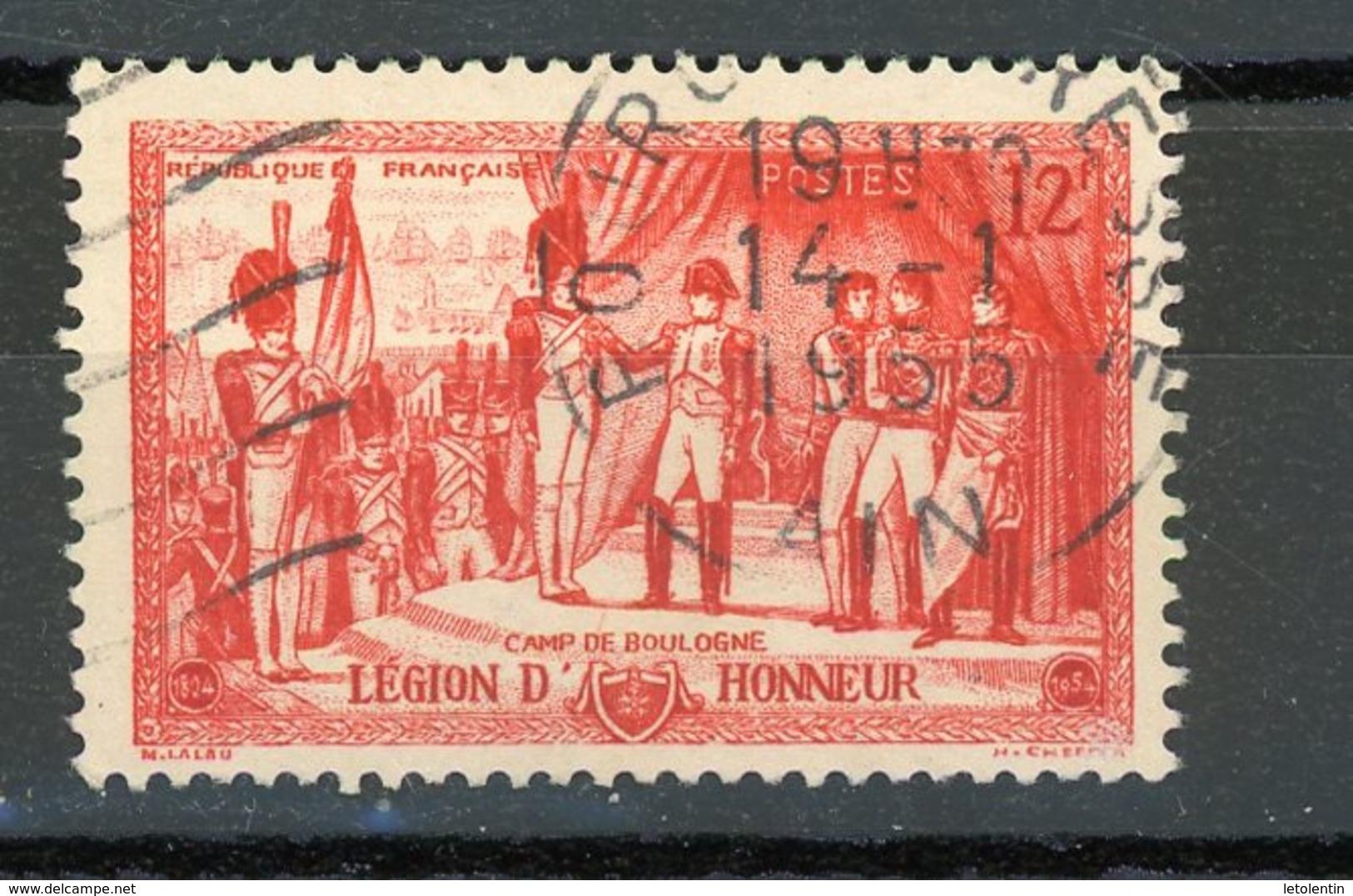 FRANCE - 150 ANS DE LA LEGION D'HONNEUR - N° Yvert 997 Obli. Ronde De BOURG EN BRESSE 1955 - France