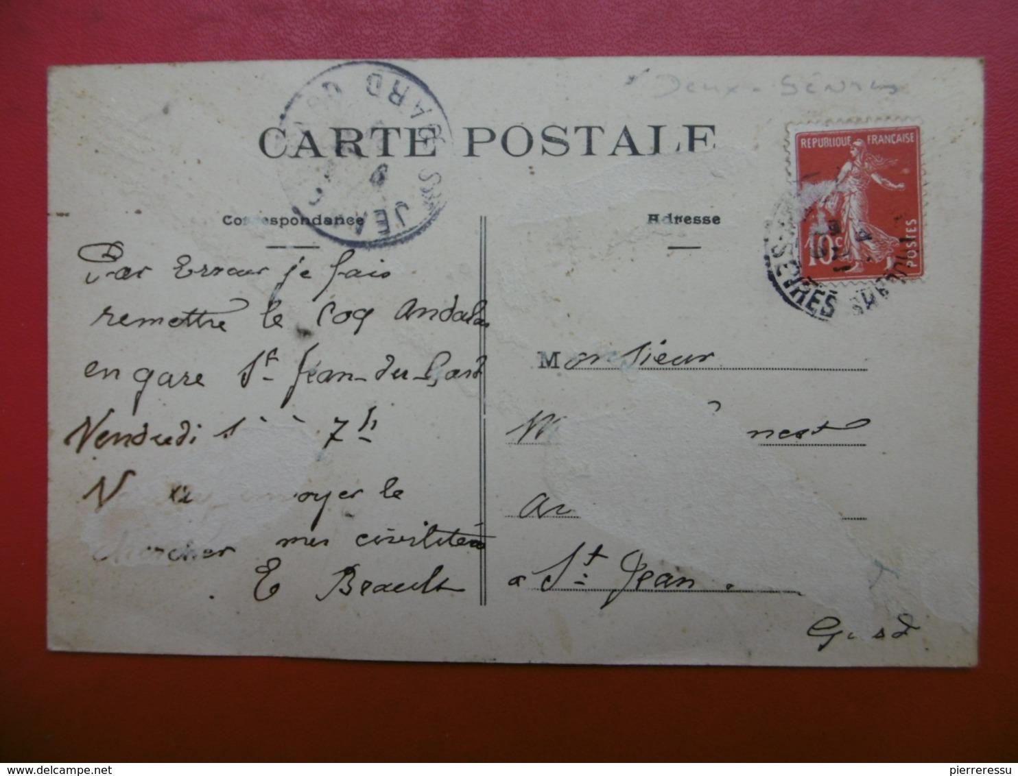 THOUARS 38 AVENUE DE LA GARE APPROVISIONNEMENT GENERAL MAISON ROUGE CARTE TOP - Thouars