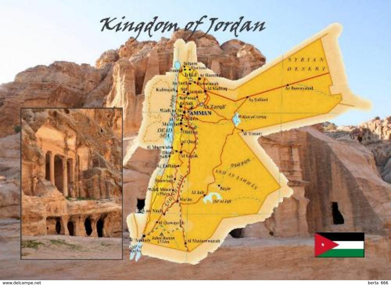Jordan Country Map New Postcard Jordanien Landkarte AK - Jordanien