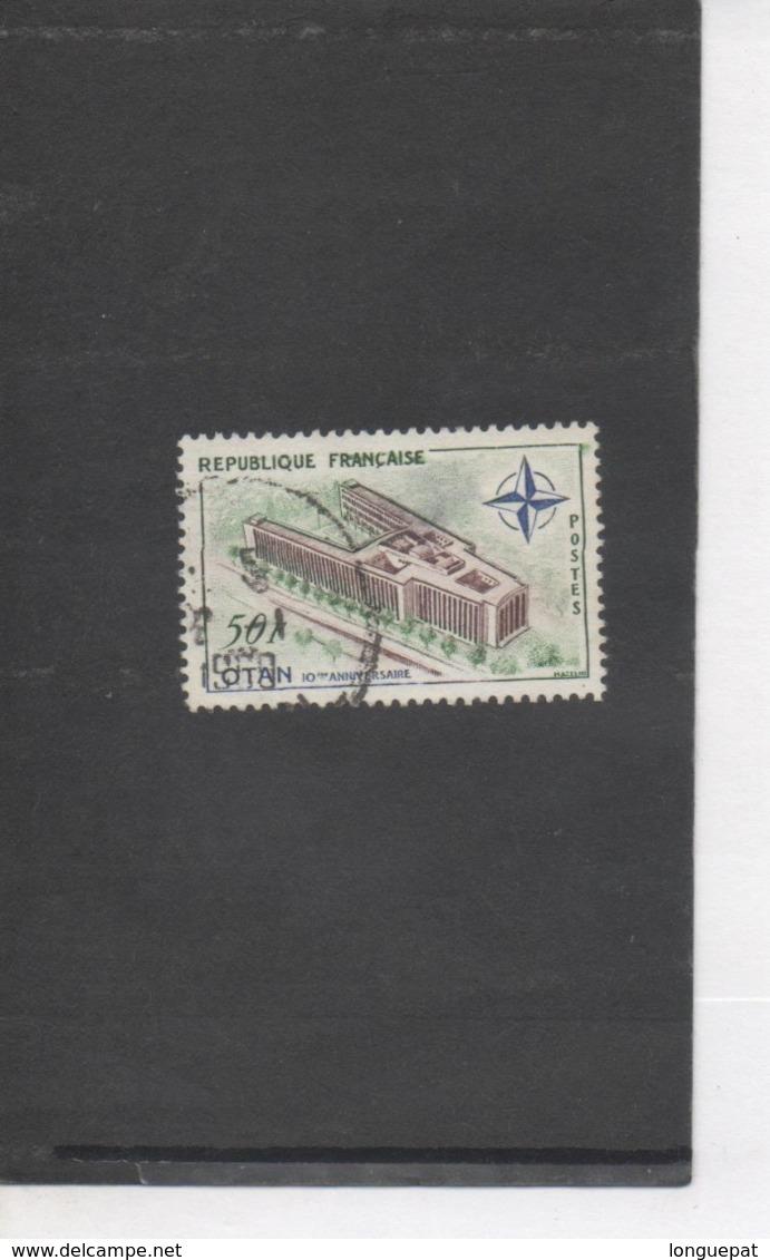 FRANCE -O.T.A.N. (Organisation Du Traité De L'Atlantique Nord) : 10 Ans Etinaugurationdu Palais à Paris - Militaire - - France
