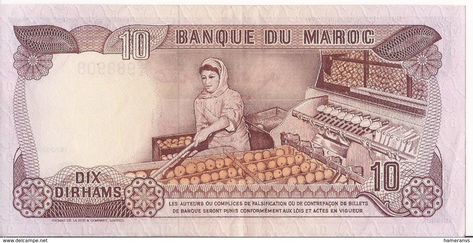 Marocco 10 Dirhams 1970 - AUnc - P.57a - Marocco