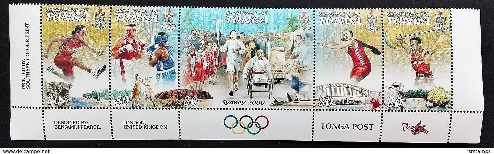 #Tonga 2000* Mi.1578-82. Olympic Games, MNH [21;122] - Sommer 2000: Sydney