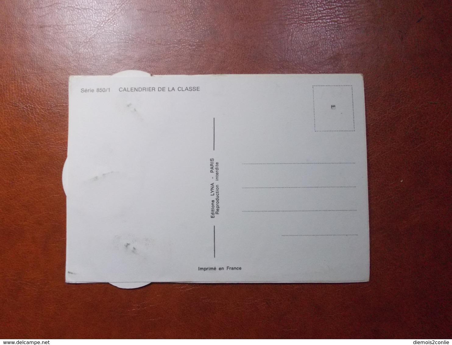Carte Postale  - Militaire à Système - Calendrier De La Classe - La Quille (3616) - Humoristiques
