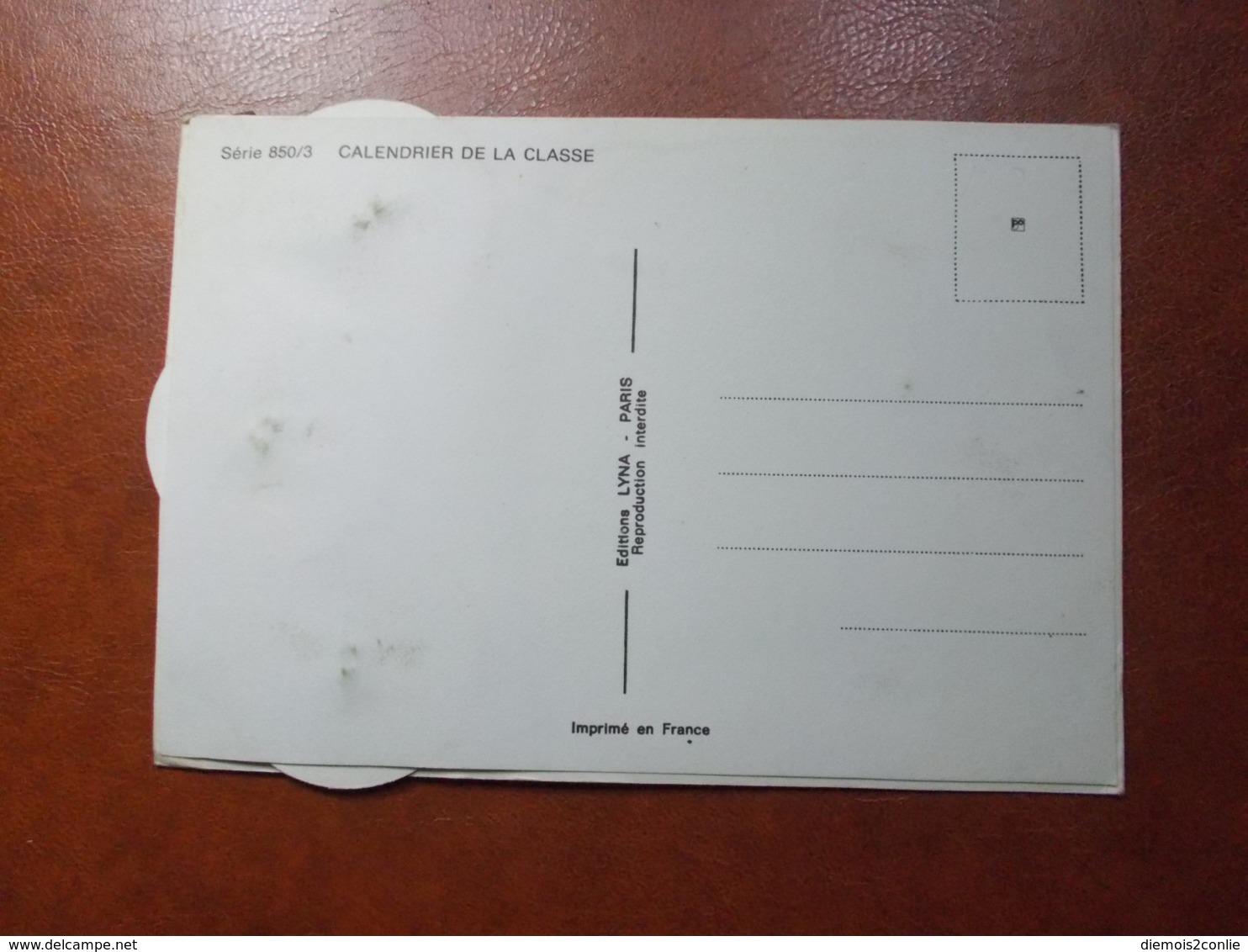 Carte Postale  - Militaire à Système - Calendrier De La Classe - La Quille (3620) - Humoristiques