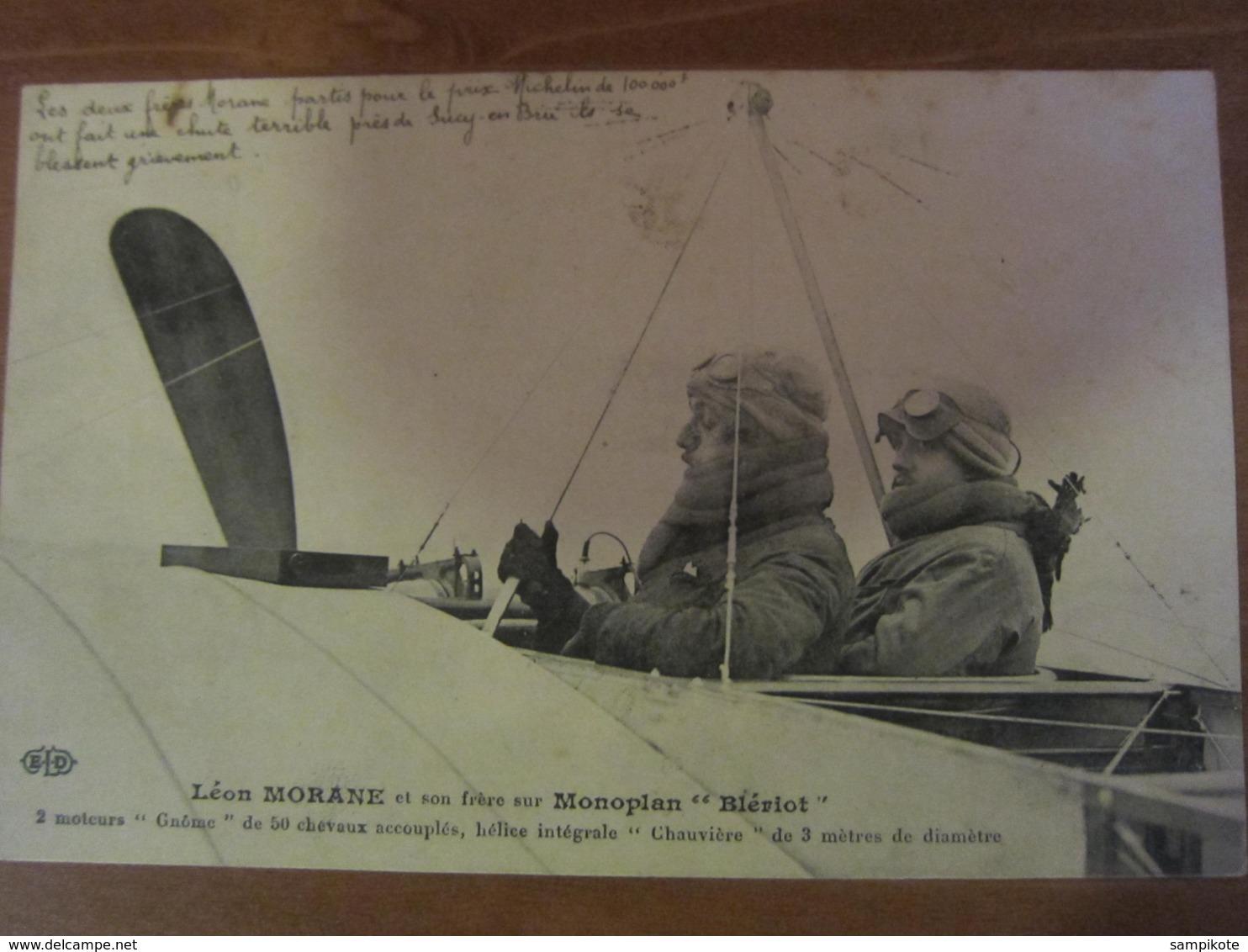 Léon MORANE Et Son Frère Sur Monoplan Blériot - ....-1914: Precursori