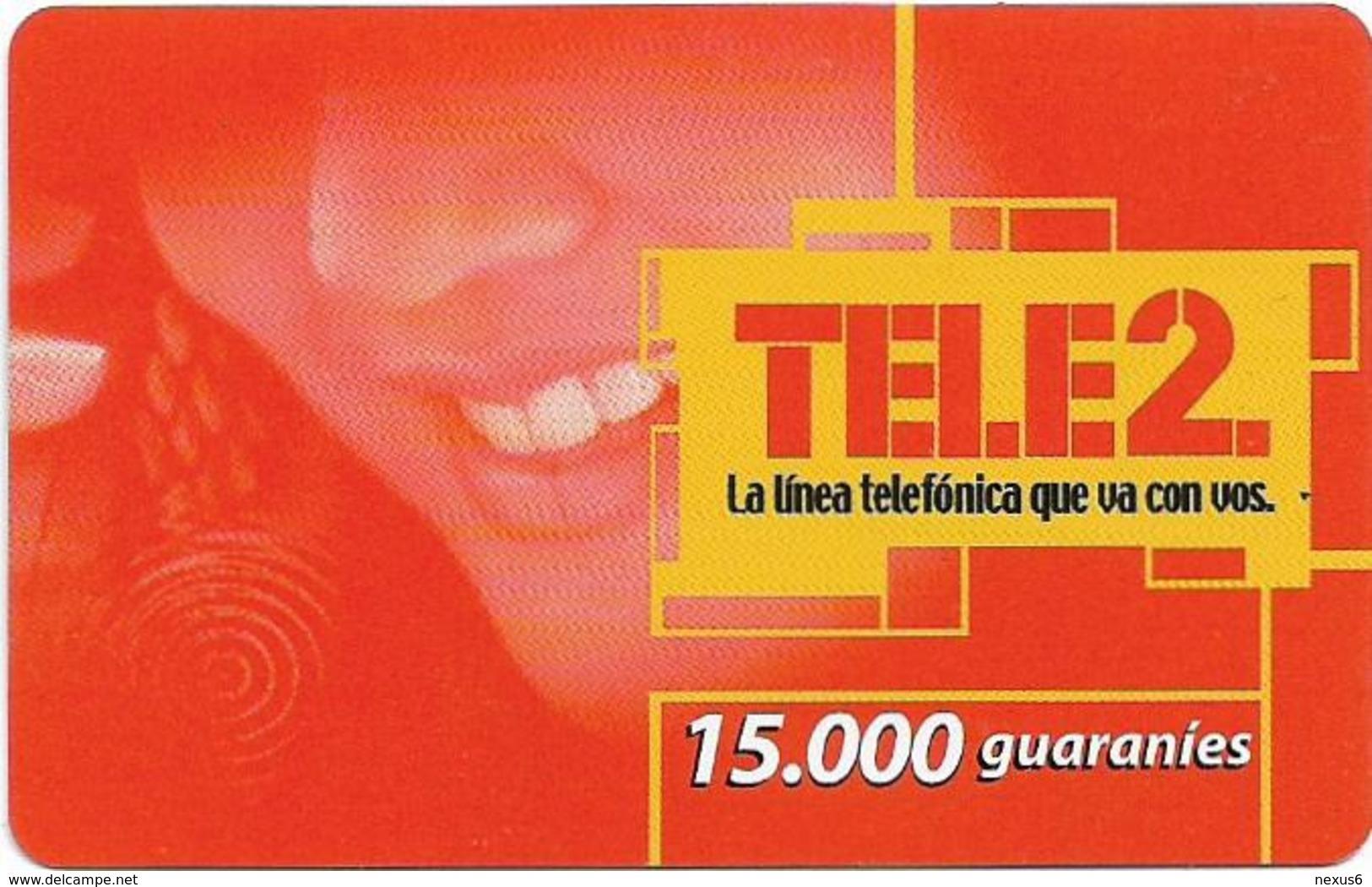 Paraguay - Tele2 - Smiling Woman, Prepaid 15.000Gs, Exp. 31.12.2004, Used - Paraguay