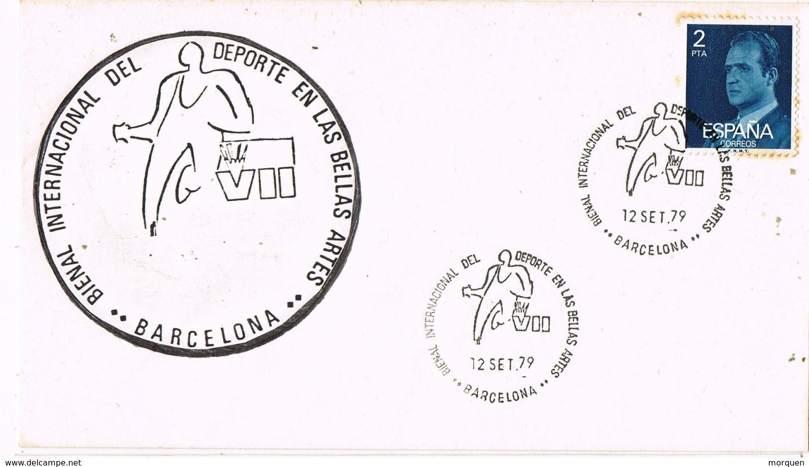 33996. Carta BARCELONA 1979. Bienal Deporte En Las Bellas Artes - 1931-Hoy: 2ª República - ... Juan Carlos I